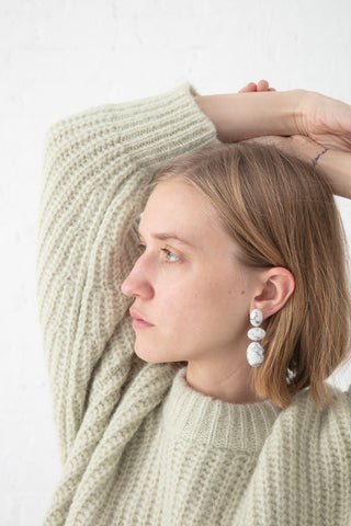 Jessica Winzelberg Mobile Earrings in White Howlite | Oroboro Store | New York, NY