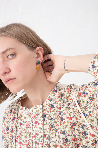 Jessica Winzelberg Mobile Earring in Lapis & Yellow Jasper | Oroboro Store | New York, NY