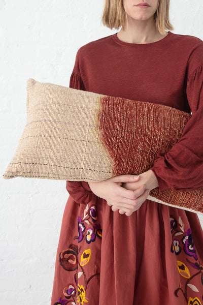 Jess Feury Dip Dye Pillow in Sienna I | Oroboro Store | New York, NY