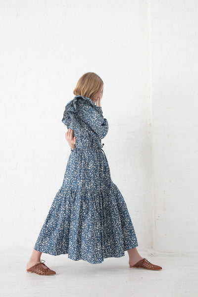 Ulla Johnson Pari Skirt in Indigo Batik | Oroboro Store | New York, NY