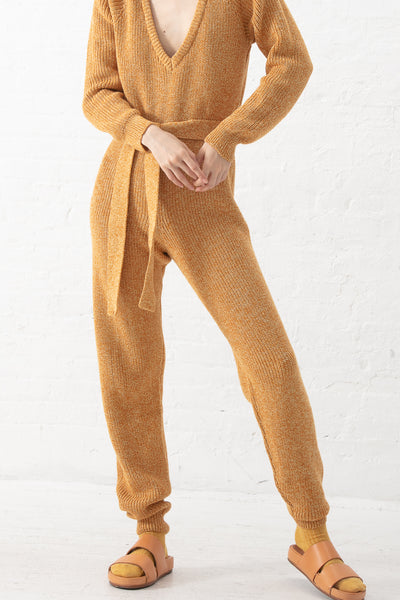 Baserange Danube Jumpsuit in Ocra Brown | Oroboro Store | New York, NY