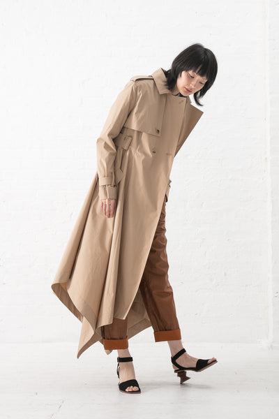 Nehera Corbel Trench - Tech Light in Taupe | Oroboro Store | New York, NY