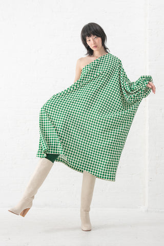 A Detacher Dalton Dress in Polkadot Print - Green Multi | Oroboro Store | New York, NY