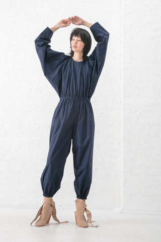 A Detacher Omar Jumpsuit in Navy | Oroboro Store | New York, NY