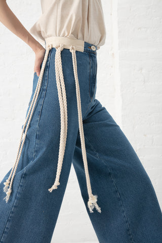 AVN Denim Pants in Blue Denim | Oroboro Store | New York, NY