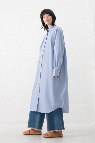 Ole Shirt Dress in Blue with Stripe