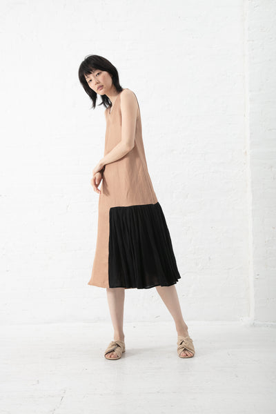 Correll Correll Flocco 19 Dress in Copper with Black Detail | Oroboro Store | New York, NY