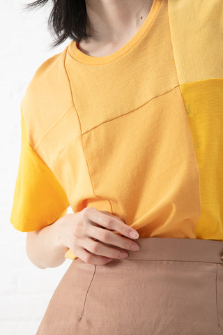 Correll Correll Mono Recycled T-Shirt in Yellow/Orange | Oroboro Store | New York, NY