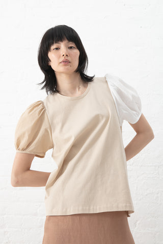 Correll Correll Bonne Shirt in Natural with White Sleeve | Oroboro Store | New York, NY