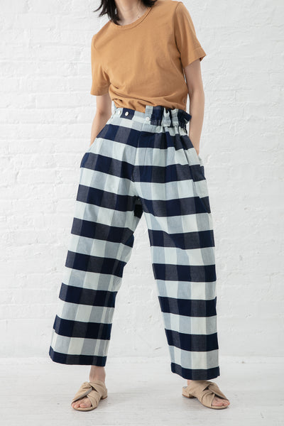 Eatable of Many Orders Bombyx Mori Pant in Blue/White | Oroboro Store | New York, NY
