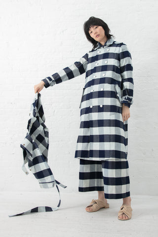 Eatable of Many Orders Mulberry Coat in Blue/White | Oroboro Store | New York, NY