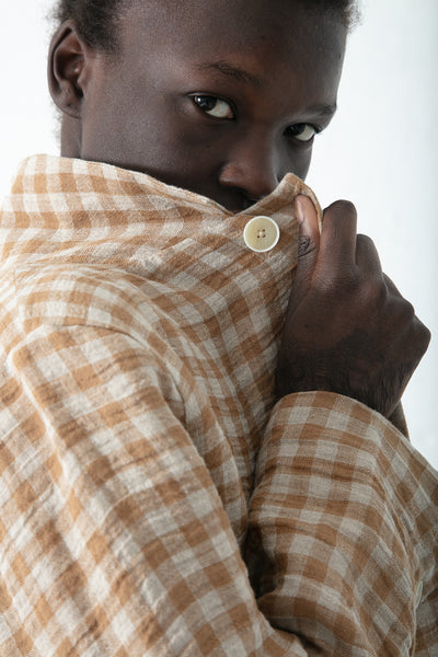 Ichi Antiquites Linen Jacket in Camel | Oroboro Store | New York, NY