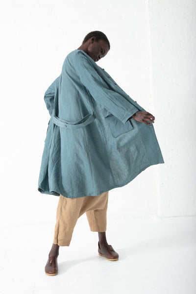 Ichi Antiquites Coat in Blue | Oroboro Store | New York, NY
