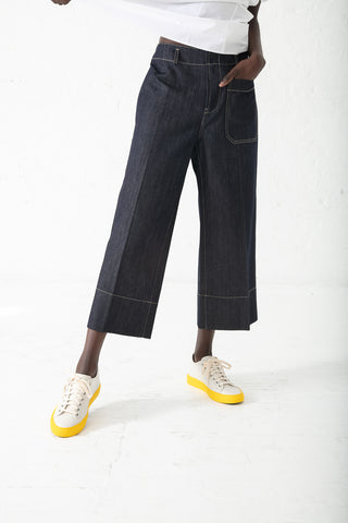 Sofie D'Hoore Pina Pant in Denim | Oroboro Store | New York, NY