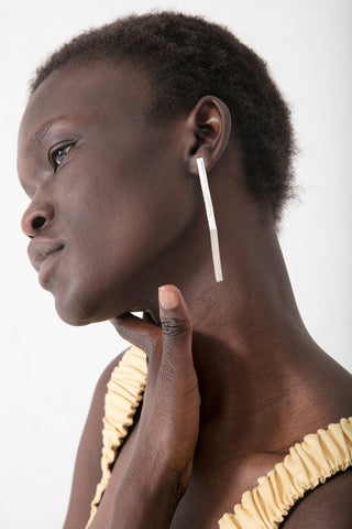 Hannah Keefe Post Earrings in Silver | Oroboro Store | New York, NY