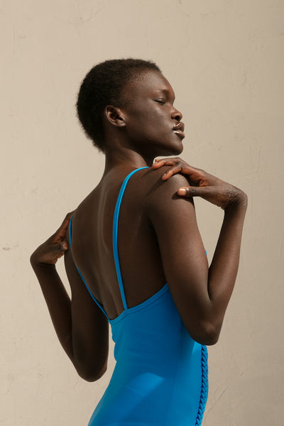 A Detacher Erin One-Piece in Egyptian Blue | Oroboro Store | New York, NY