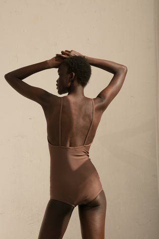 A Detacher Erin Swimsuit in Mink | Oroboro Store | New York, NY