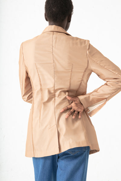Rejina Pyo Sophie Jacket in Chiffon Taupe and Linen Ecru | Oroboro Store | New York, NY