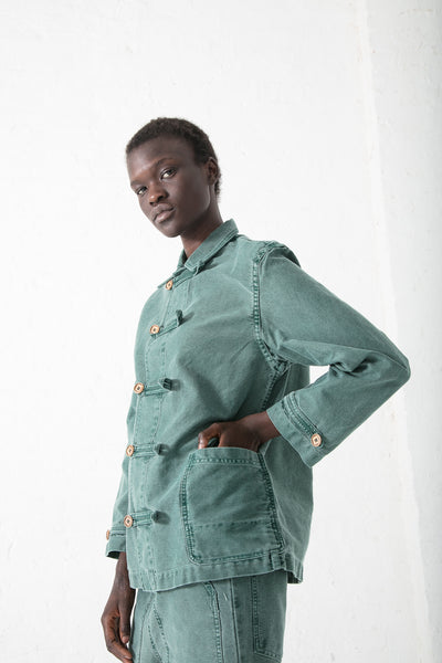 Caron Callahan Aaron Jacket in Green Twill | Oroboro Store | New York, NY