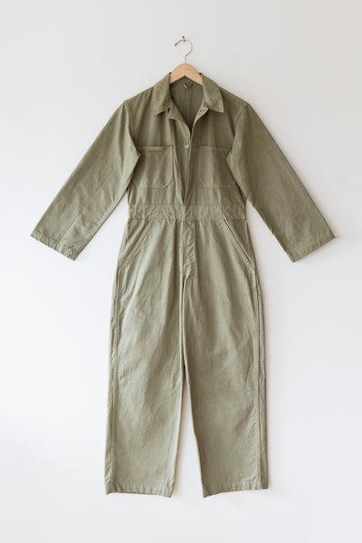 As Ever Zip Jumpsuit in Mission Olive front view