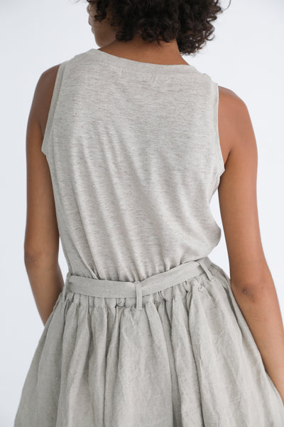 Ichi Antiquites Tank - Linen in Natural on model view back