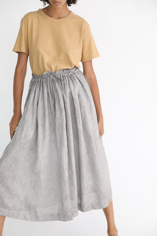 Linen Skirt in Sumi