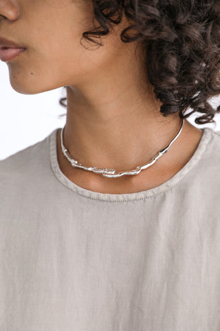 Erin Considine Strata Necklace in Sterling Silver on model view