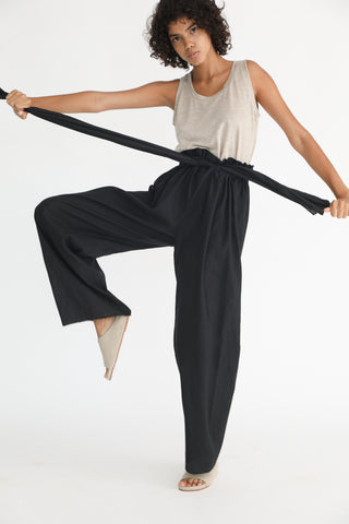 Baserange Tenali Pants in Black on model view