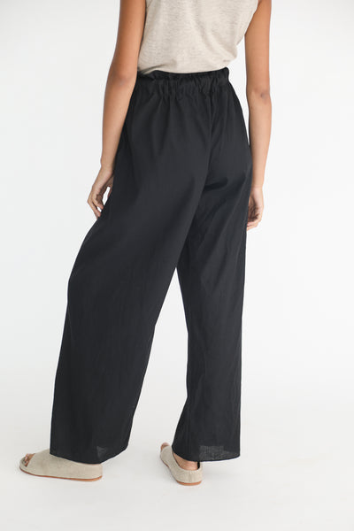 Baserange Tenali Pants in Black on model view back