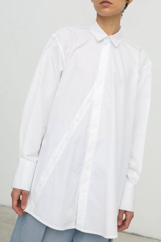 Nehera Bamas Washed Poplin Blouse in White | Oroboro | New York, NY