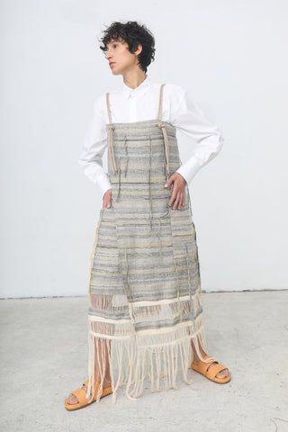 Nehera Deby Hand Woven Cotton Linen Dress in Multicolor | Oroboro | New York, NY