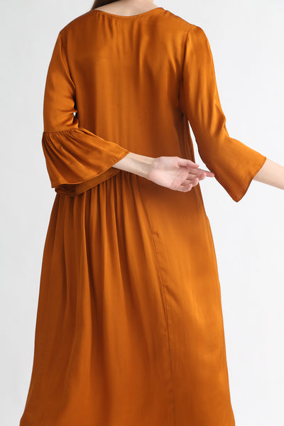 Correll Correll Coco Dress in Tumeric on model view back