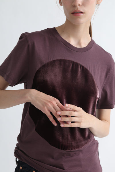 Correll Correll Velvet T-Shirt in Brown circle detail view