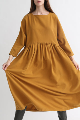 Black Crane Tradi Dress in Khaki front view
