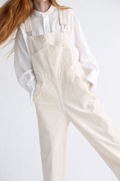 Jesse Kamm Overalls - Organic Canvas in Natural front pocket detail view