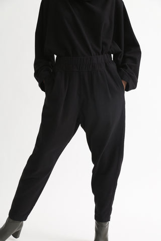 Black Crane Carpenter Pants in Black front view