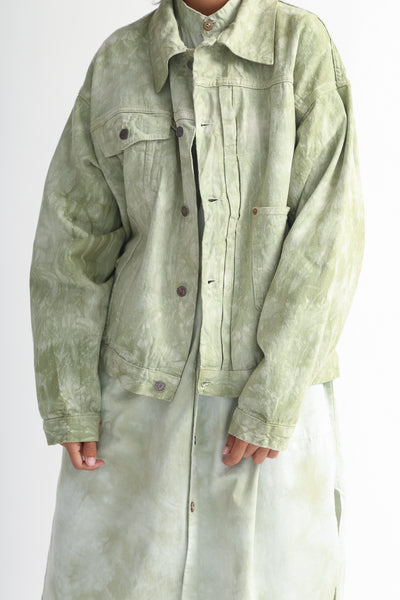 Dr. Collectors 2020 Denim Jacket in Cloud Sage front detail view