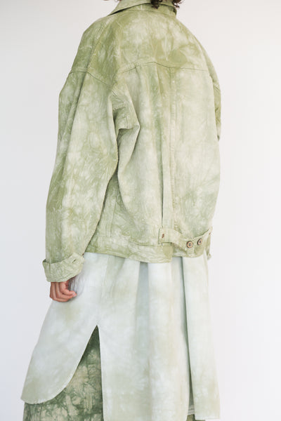 Dr. Collectors 2020 Denim Jacket in Cloud Sage on model view back