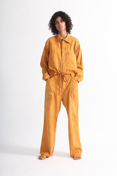 Dr. Collectors Mecano Jumpsuit in Cloud Pumpkin on model view front