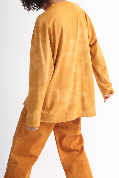 Dr. Collectors Longsleeve Basic T in Cloud Pumpkin on model view back