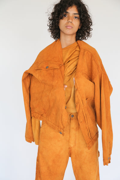 Dr. Collectors 2020 Denim Jacket in Cloud Pumpkin on model view front
