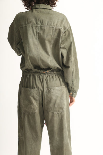 Dr. Collectors Mecano Jumpsuit in Cloud Avocado back detail view