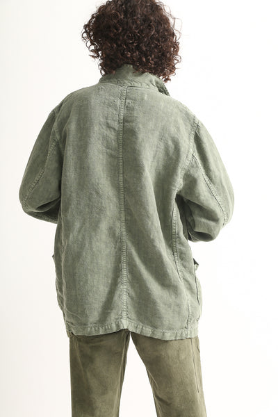 Dr. Collectors Sunday Jacket in Avocado on model view back