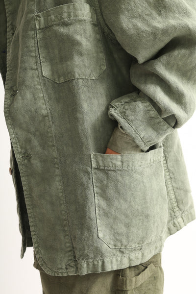 Dr. Collectors Sunday Jacket in Avocado hip pocket detail view