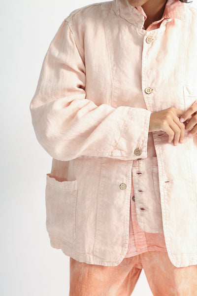 Dr. Collectors Sunday Jacket in Lychee detail view front
