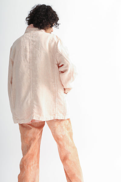 Dr. Collectors Sunday Jacket in Lychee on model view back