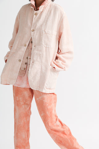 Dr. Collectors Sunday Jacket in Lychee on model view front
