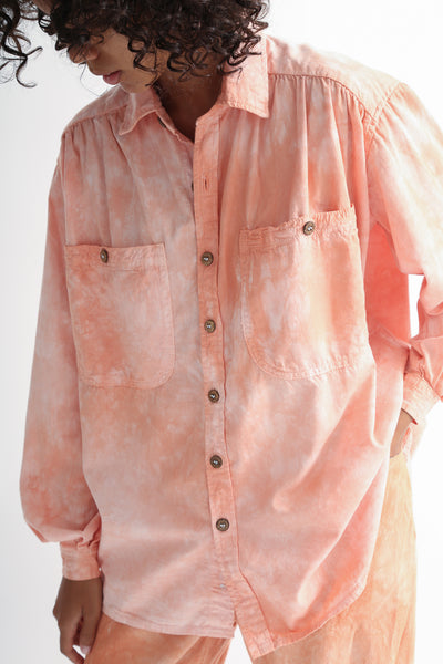 Dr. Collectors Picasso Shirt in Cloud Lychee on model view front