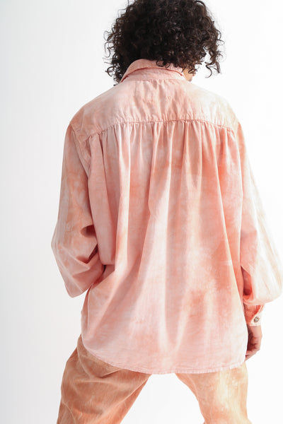 Dr. Collectors Picasso Shirt in Cloud Lychee on model view back