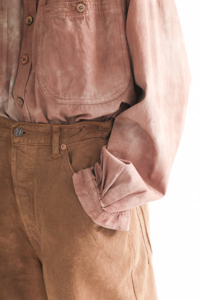 Dr. Collectors Dogtown Denim in Cloud Caramel pocket detail view front